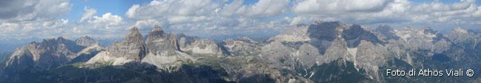 Panorama dal Cadin NE