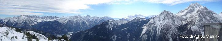Panorama dal Col Negro verso sud-ovest