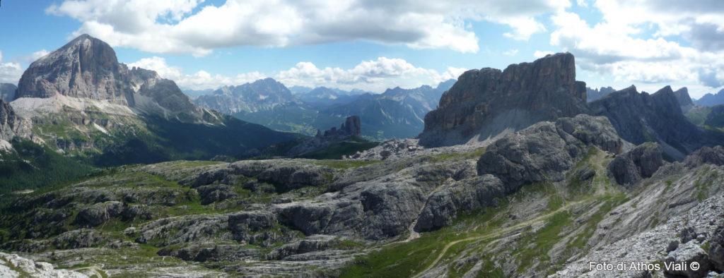 Panorama dalla cima verso nord-est