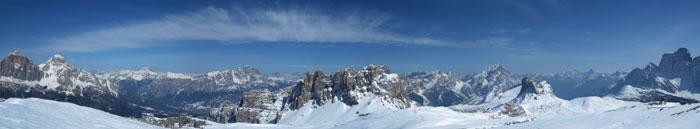 Panorama dalla cima del Formin