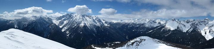 Panorama veros Cima d'Asta e Lagorai meridionali
