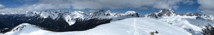Panorama dalla cima verso Lagorai