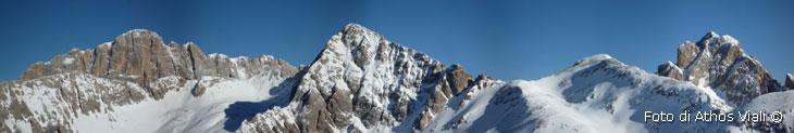 Panorama da dorsale cima Cadine