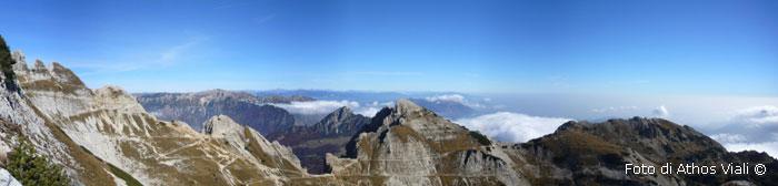Panorama dalla cresta dello Sperone
