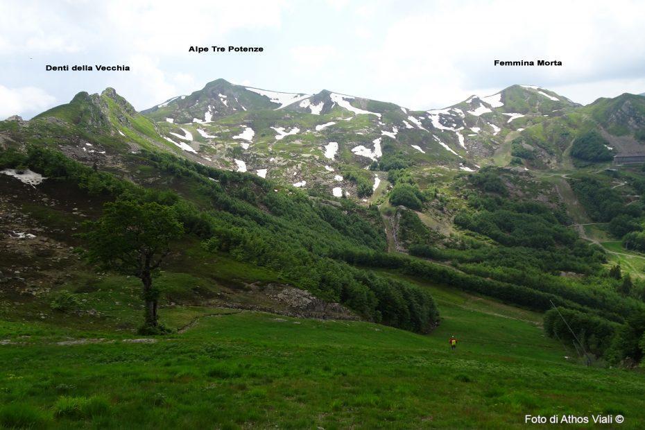 Crinale appenninico Val di Luce dal Gomito