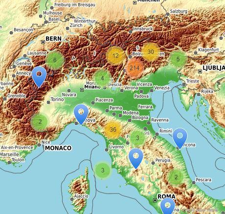 Mappa interativa